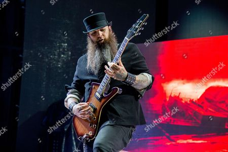 Barry Stock of Three Days Grace performs at the Rock On The Range Music Festival at Mapfre Stadium, in Columbus, Ohio