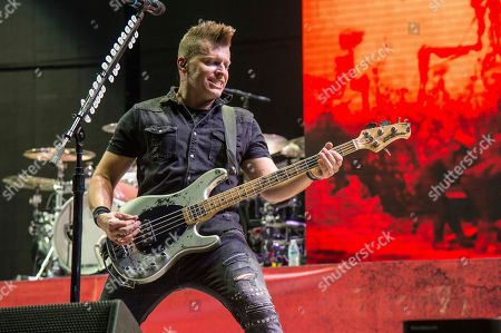 Brad Walst of Three Days Grace performs at the Rock On The Range Music Festival at Mapfre Stadium, in Columbus, Ohio