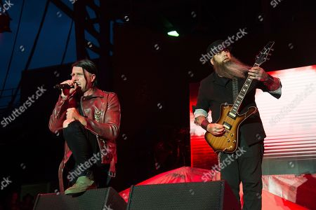 Matt Walst, Barry Stock. Matt Walst, left, and Barry Stock of Three Days Grace perform at the Rock On The Range Music Festival at Mapfre Stadium, in Columbus, Ohio