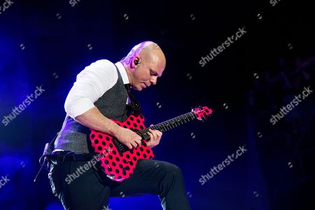 Stock Image of Josh Rand of Stone Sour performs at the Rock On The Range Music Festival at Mapfre Stadium, in Columbus, Ohio