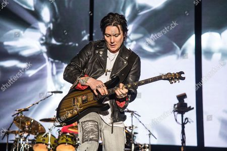 Synyster Gates, Brian Elwin Haner Jr. Synyster Gates of Avenged Sevenfold performs at the Rock On The Range Music Festival at Mapfre Stadium, in Columbus, Ohio