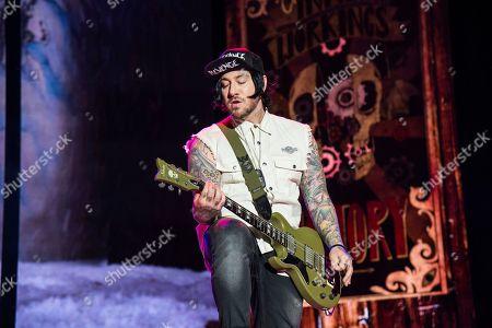 Zacky Vengeance of Avenged Sevenfold performs at the Rock On The Range Music Festival at Mapfre Stadium, in Columbus, Ohio