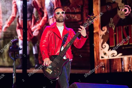 Johnny Christ of Avenged Sevenfold performs at the Rock On The Range Music Festival at Mapfre Stadium, in Columbus, Ohio