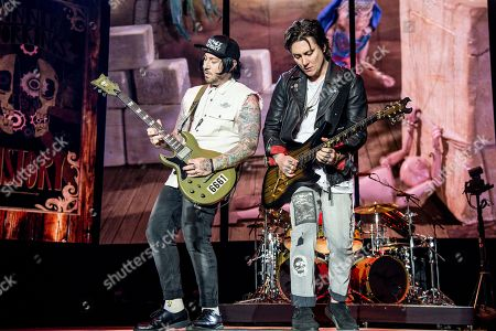 Zacky Vengeance, Synyster Gates, Brian Elwin Haner Jr. Zacky Vengeance, left, and Synyster Gates of Avenged Sevenfold perform at the Rock On The Range Music Festival at Mapfre Stadium, in Columbus, Ohio