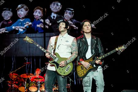 Stock Picture of Zacky Vengeance, Synyster Gates, Brian Elwin Haner Jr. Zacky Vengeance, left, and Synyster Gates of Avenged Sevenfold perform at the Rock On The Range Music Festival at Mapfre Stadium, in Columbus, Ohio
