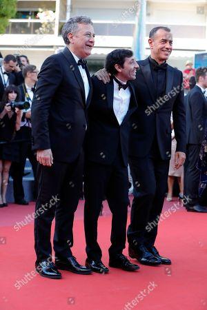 Marcello Fonte, Matteo Garrone and Francesco Acquaroli