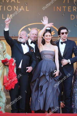 Rossy De Palma, Oscar Jaenada, Olga Kurylenko, Adam Driver, Terry Gilliam, Joana Ribeiro and Jonathan Pryce