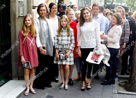 Victoria Federica de Marichalar, Irene Urdangarin, Former Queen Sofia of Spain, Crown Princess Leonor, Princess Infanta Sofía, Queen Letizia, Paloma Rocasolano