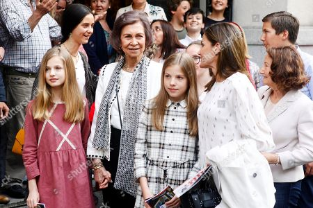Victoria Federica de Marichalar, Former Queen Sofia of Spain, Crown Princess Leonor, Irene Urdangarin, Princess Infanta Sofía, Queen Letizia, Paloma Rocasolano
