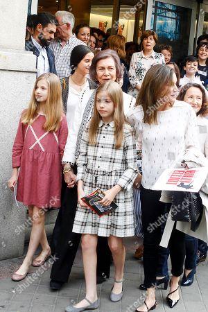 Crown Princess Leonor, Former Queen Sofia of Spain, Princess Infanta Sofía, Queen Letizia, Victoria Federica de Marichalar, Paloma Rocasolano