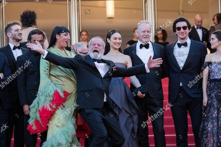 Sergi Lopez, Terry Gilliam, Adam Driver, Sergi Lopez, Rossy De Palma, Jonathan Pryce, Olga Kurylenko. Director Terry Gilliam poses for photographers with cast members of the film 'The Man Who Killed Don Quixote' upon arrival at the closing ceremony of the 71st international film festival, Cannes, southern France