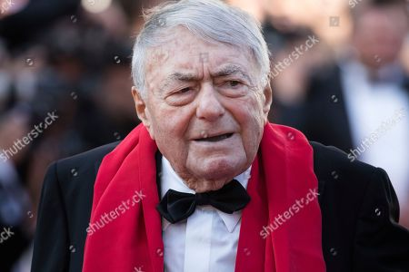 Claude Lanzmann poses for photographers upon arrival at the premiere of the film 'The Man Who Killed Don Quixote' and the closing ceremony of the 71st international film festival, Cannes, southern France