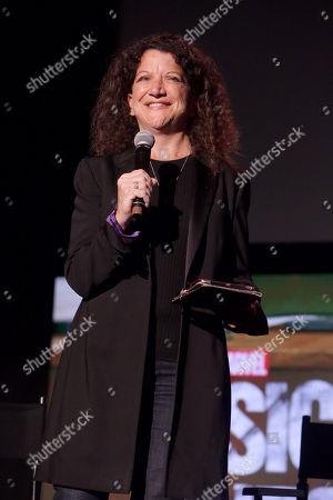 Stock Image of Debra Birnbaum, Moderator,