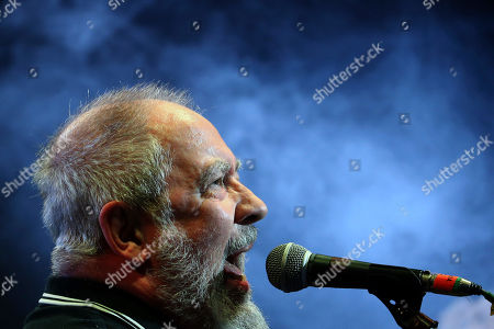 Frontman Pete Shelley of the British punk band Buzzcocks, performs at Plaza Condesa in the 6th edition of the Marvin Festival, in Mexico City