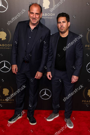 Stock Photo of Nick Sandow, Mike Gasparro. Nick Sandow, left, and Mike Gasparro, right, attend the 77th Annual Peabody Awards at Cipriani Wall Street, in New York