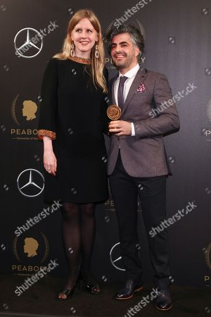 Justine Nagan, Feras Fayyad. Justine Nagan, left, and Feras Fayyad, right, attend the 77th Annual Peabody Awards at Cipriani Wall Street, in New York
