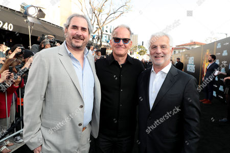 Stock Photo of Adam Siegel, Producer, Stephen Cornwell, Producer, Rob Friedman, Chairman and CEO, TMP Entertainment,