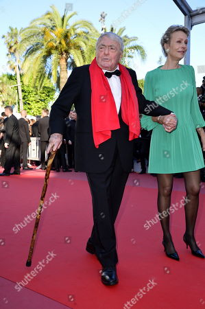 Stock Image of Claude Lanzmann and Dominique Petithory