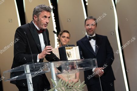 Stock Image of Jury member Kristen Stewart and Denis Villeneuve, Director Pawel Pawlikowski