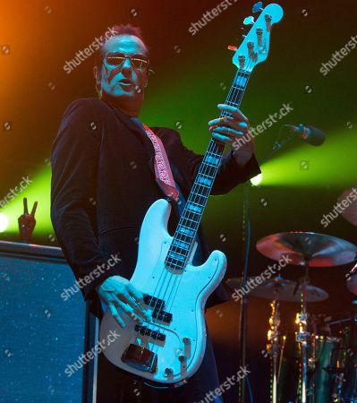 Robert DeLeo of the band Stone Temple Pilots performs in concert during the MMRBQ at the BB&T Pavilion, in Camden, N.J