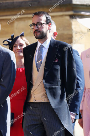 Stock Photo of Prince William's private secretary, Miguel Head arrives for the wedding ceremony of Prince Harry and Meghan Markle at St. George's Chapel in Windsor Castle in Windsor, near London, England