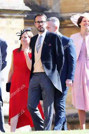 Prince William's private secretary, Miguel Head arrives for the wedding ceremony of Prince Harry and Meghan Markle at St. George's Chapel in Windsor Castle in Windsor, near London, England