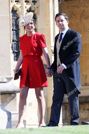 Rebecca Deacon and Adam Priestley arrive for the wedding ceremony of Prince Harry and Meghan Markle at St. George's Chapel in Windsor Castle in Windsor, near London, England