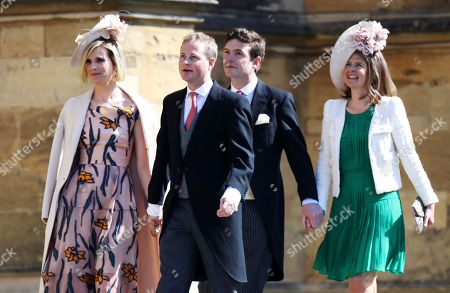 Lizzie Wilson, Guy Pelly, James Meade and Lady Laura Marsham arrive for the wedding ceremony of Prince Harry and Meghan Markle at St. George's Chapel in Windsor Castle in Windsor, near London, England