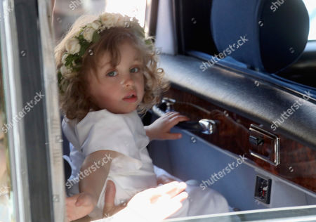 Stock Picture of Bridesmaid Zalie Warren arrives for the wedding ceremony of Prince Harry and Meghan Markle at St. George's Chapel in Windsor Castle in Windsor, near London, England