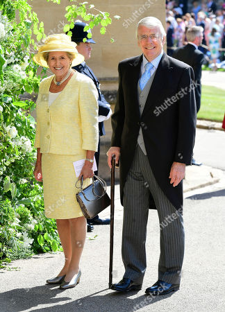 John and Norma Major arrive for the wedding ceremony of Prince Harry and Meghan Markle at St. George's Chapel in Windsor Castle in Windsor, near London, England