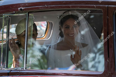 Meghan Markle and her mother Doria Ragland travel to Windsor Castle along The Long Walk, before the marriage ceremony in St George's Chapel.