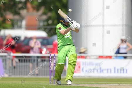 Bouncer for Lanc's Karl Brown during the Specsavers County Champ Div 1 match between Lancashire County Cricket Club and Durham County Cricket Club at the Emirates, Old Trafford, Manchester. Picture by George Franks