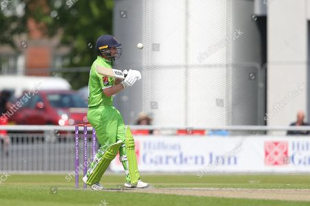 Bouncer for Karl Brown during the Specsavers County Champ Div 1 match between Lancashire County Cricket Club and Durham County Cricket Club at the Emirates, Old Trafford, Manchester. Picture by George Franks