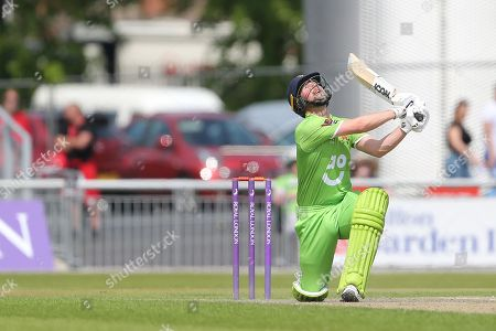 Karl Brown  during the Specsavers County Champ Div 1 match between Lancashire County Cricket Club and Durham County Cricket Club at the Emirates, Old Trafford, Manchester. Picture by George Franks