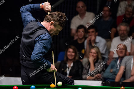 Stock Picture of Six times World Championship finalist, professional snooker player Jimmy White of Britain in action during the 3rd Hungarian Snooker Gala held in the Gerevich Aladar National Sports Hall in Budapest, Hungary, 19 May 2018.