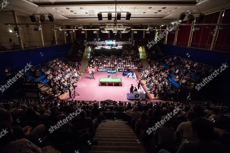 Six times World Championship finalist, professional snooker player Jimmy White of Britain in action during the 3rd Hungarian Snooker Gala held in the Gerevich Aladar National Sports Hall in Budapest, Hungary, 19 May 2018.