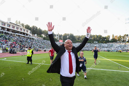 Desportivo das Aves head coach Jose Mota celebrates after winning the Portugal Cup Final against Sporting CP at Jamor Stadium in Oeiras, outskirts of Lisbon, Portugal, 20 of May 2018.