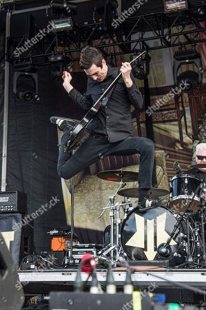 Justin Sane of Anti-Flag performs at the Rock On The Range Music Festival at Mapfre Stadium, in Columbus, Ohio