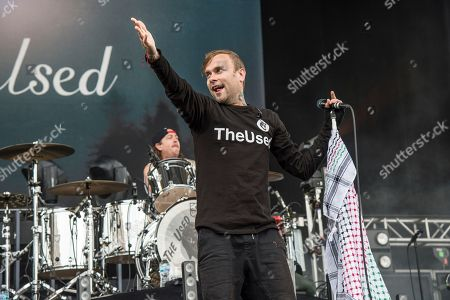 Stock Image of Bert McCracken of The Used performs at the Rock On The Range Music Festival at Mapfre Stadium, in Columbus, Ohio