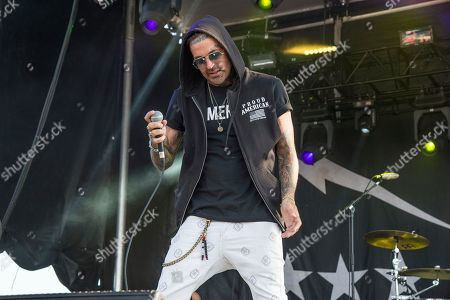 Yelawolf, Michael Wayne Atha. Yelawolf performs at the Rock On The Range Music Festival at Mapfre Stadium, in Columbus, Ohio