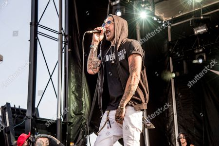 Stock Picture of Yelawolf, Michael Wayne Atha. Yelawolf performs at the Rock On The Range Music Festival at Mapfre Stadium, in Columbus, Ohio