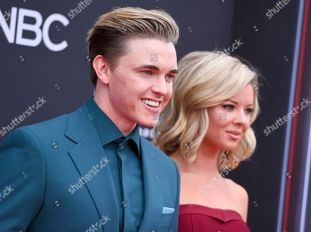 Jesse McCartney, Katie Peterson. Jesse McCartney, left, and Katie Peterson arrive at the Billboard Music Awards at the MGM Grand Garden Arena, in Las Vegas