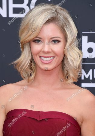 Katie Peterson arrives at the Billboard Music Awards at the MGM Grand Garden Arena, in Las Vegas