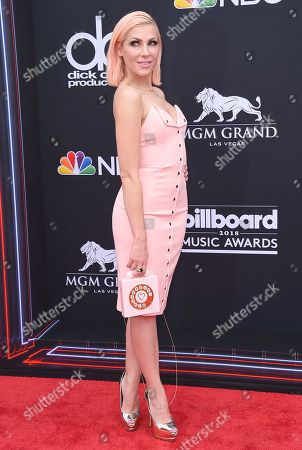Bonnie McKee arrives at the Billboard Music Awards at the MGM Grand Garden Arena, in Las Vegas