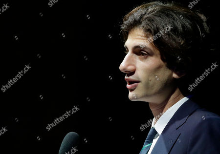Jack Schlossberg, grandson of the late U.S. President John F. Kennedy, addresses an audience during a 2018 John F. Kennedy Profile in Courage Award ceremony at the John F. Kennedy Presidential Library and Museum, in Boston. Former New Orleans Mayor Mitch Landrieu was presented with the award for his leadership in removing Confederate memorials in his city