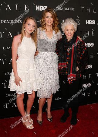 Isabelle Nelisse, Laura Dern and Ellen Burstyn