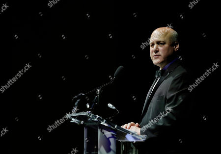 Former New Orleans Mayor Mitch Landrieu addresses an audience after being presented with the 2018 John F. Kennedy Profile in Courage Award during ceremonies at the John F. Kennedy Presidential Library and Museum, in Boston. Landrieu was presented with the award for his leadership in removing Confederate memorials in his city