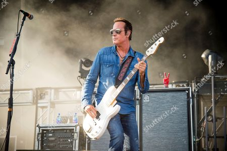 Robert DeLeo of Stone Temple Pilots performs at the Rock On The Range Music Festival at Mapfre Stadium, in Columbus, Ohio