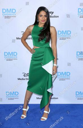 Mouzam Makkar arrives at the Disney's International Upfront Red Carpet at Disney Studios, in Burbank, Calif
