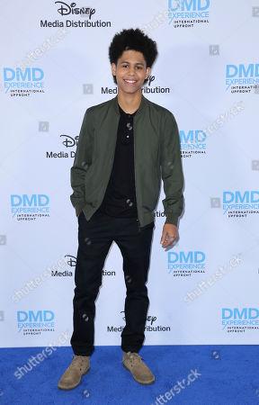 Rhenzy Feliz arrives at the Disney's International Upfront Red Carpet at Disney Studios, in Burbank, Calif